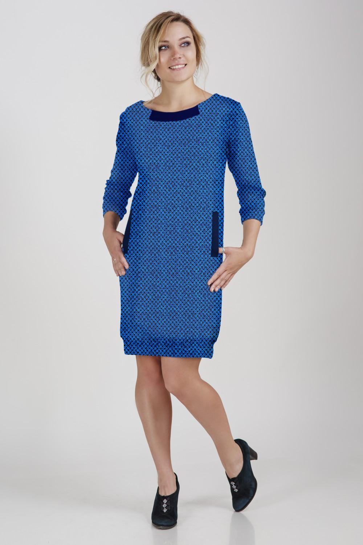 Платье женское КристианаПлатья<br><br><br>Размер: Синий