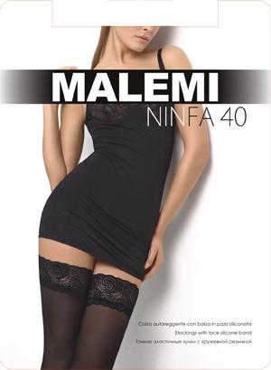 Чулки женские Malemi Ninfa 40Чулки и колготки<br><br><br>Размер: Nero (размер 2)