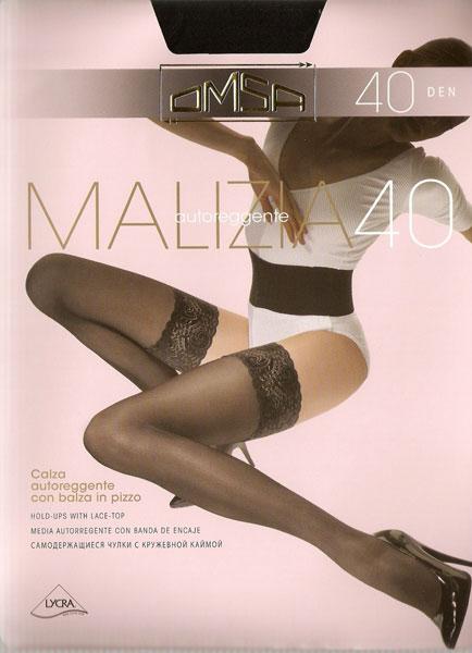 Чулки женские OMSA MALIZIA 40Чулки и колготки<br><br><br>Размер: Nero