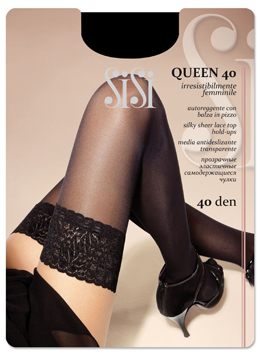 Чулки женские SISI QUEEN 40Чулки и колготки<br><br><br>Размер: Nero, размер 2