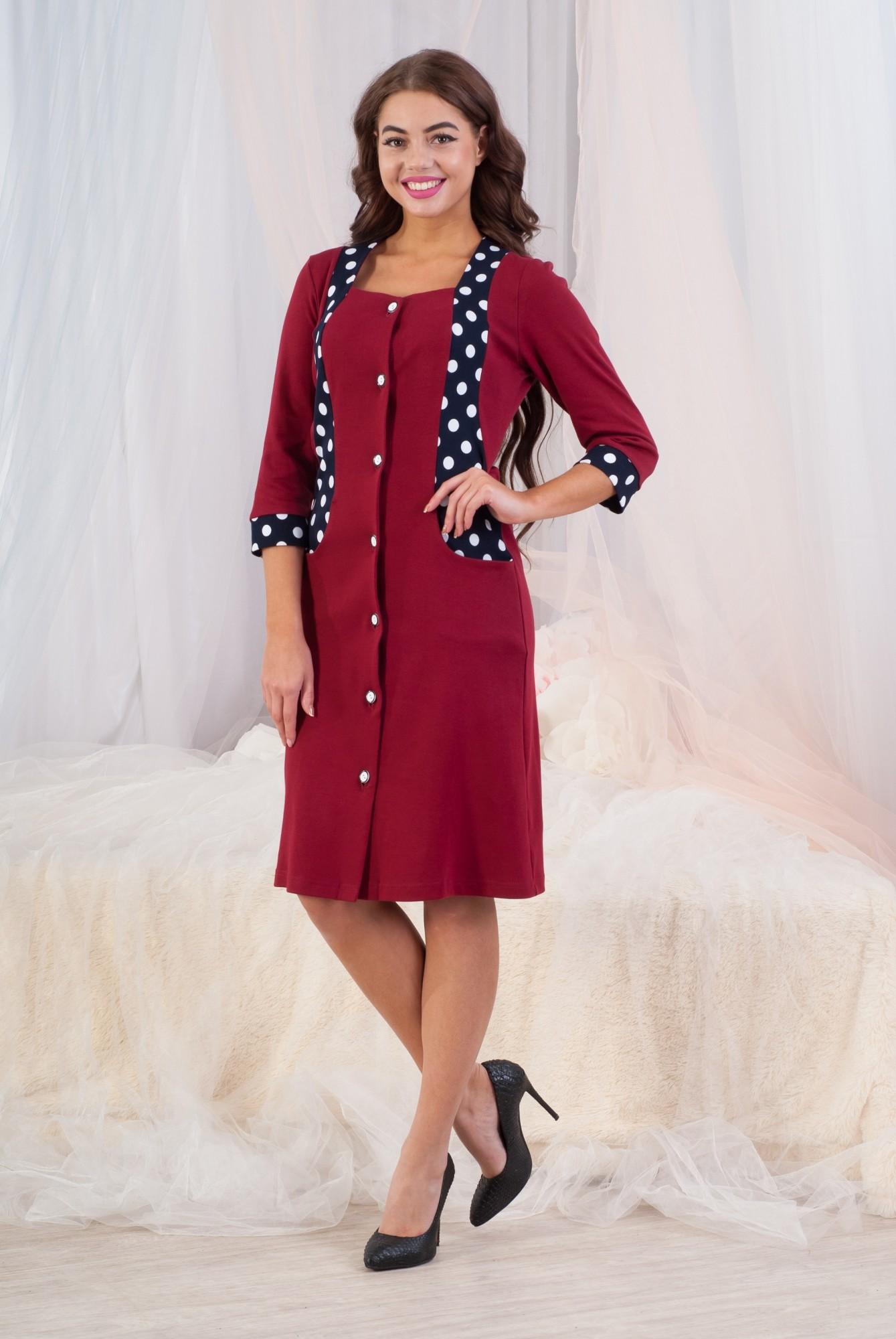 Халат женский Лара на пуговицахДомашняя одежда<br><br><br>Размер: 52