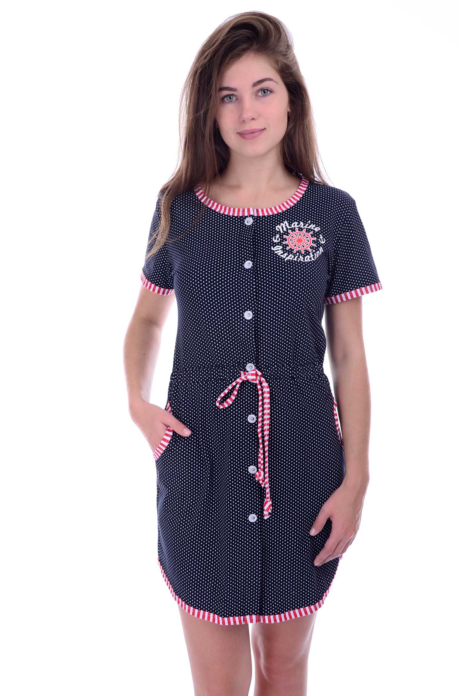 Халат женский Марина на пуговицахДомашняя одежда<br><br><br>Размер: 52