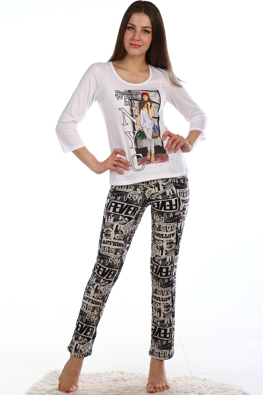 Костюм Катрин кофта с рукавом 3/4 и брюки узкиеКостюмы<br><br><br>Размер: 48