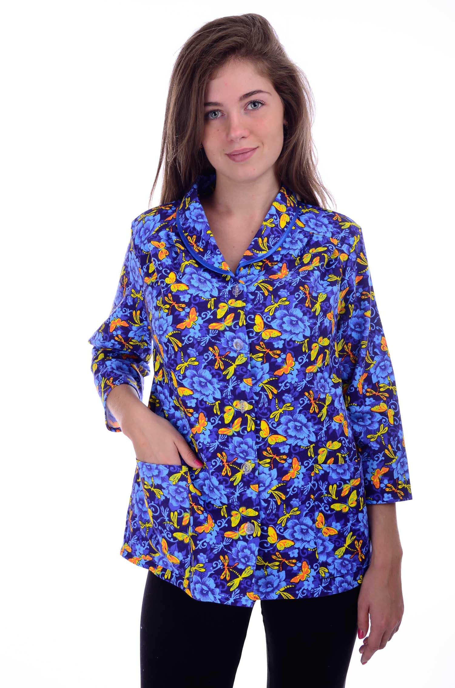 Кофта женская Фланелевая на пуговицахКофты, свитера, толстовки<br><br><br>Размер: 54