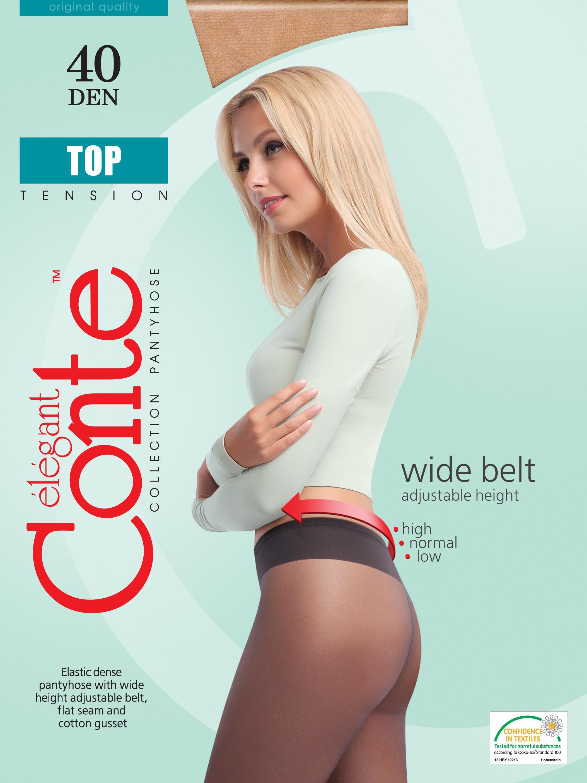 Колготки женские CONTE TOP 40Чулки и колготки<br><br><br>Размер: Grafit (серый)