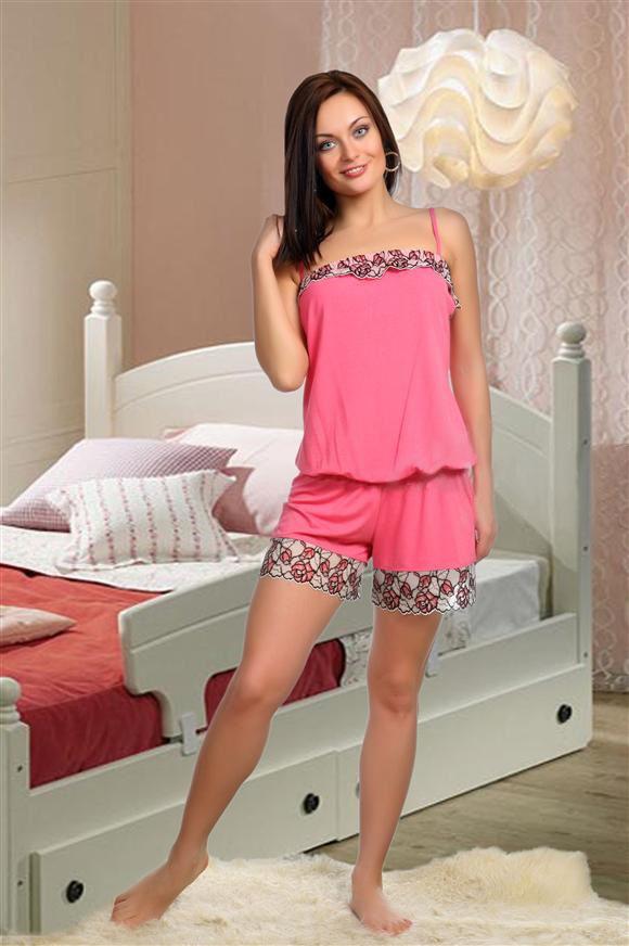 Пижама-комбинезон женский Каприз с кружевомДомашняя одежда<br><br><br>Размер: 44