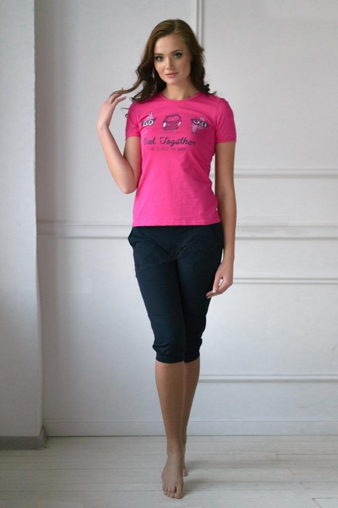 Комплект женский Magic Owl футболка и бриджиДомашняя одежда<br><br><br>Размер: 48