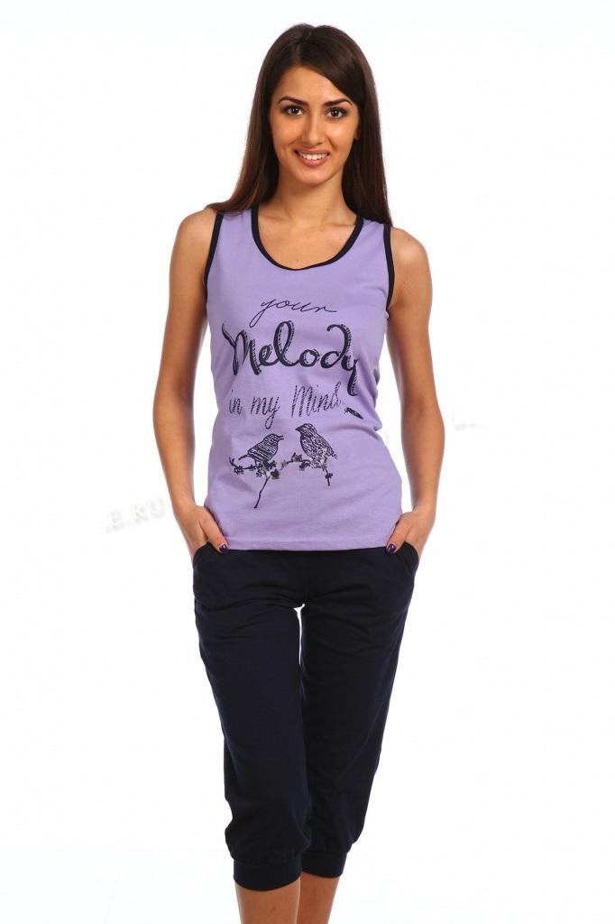 Комплект женский Melody майка и бриджиДомашняя одежда<br><br><br>Размер: 46