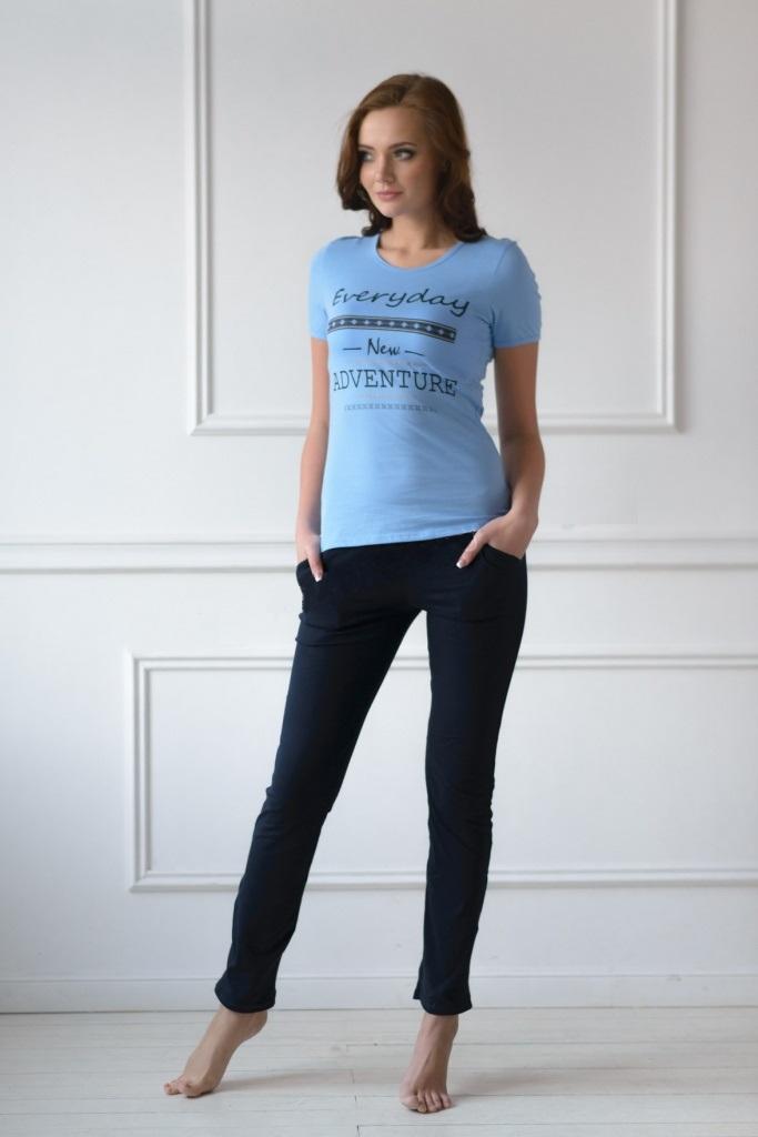Комплект женский New day футболка и брюкиКостюмы<br><br><br>Размер: 46
