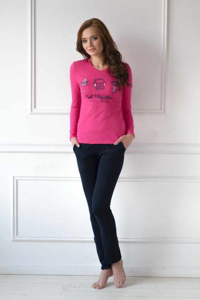 Комплект женский Owl Together блуза и брюкиКоллекция ОСЕНЬ-ЗИМА<br><br><br>Размер: 48