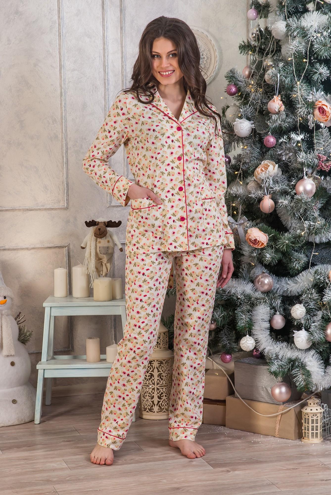 Костюм женский домашний Надин кофта и брюкиДомашняя одежда<br><br><br>Размер: 54