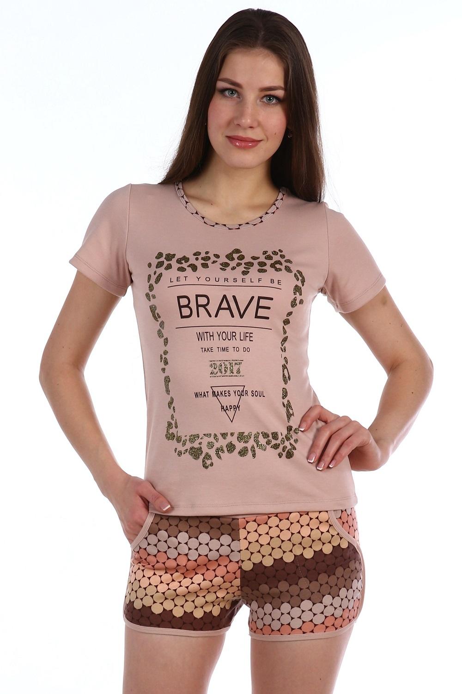 Костюм женский Смелость футболка и шортыДомашняя одежда<br><br><br>Размер: 42