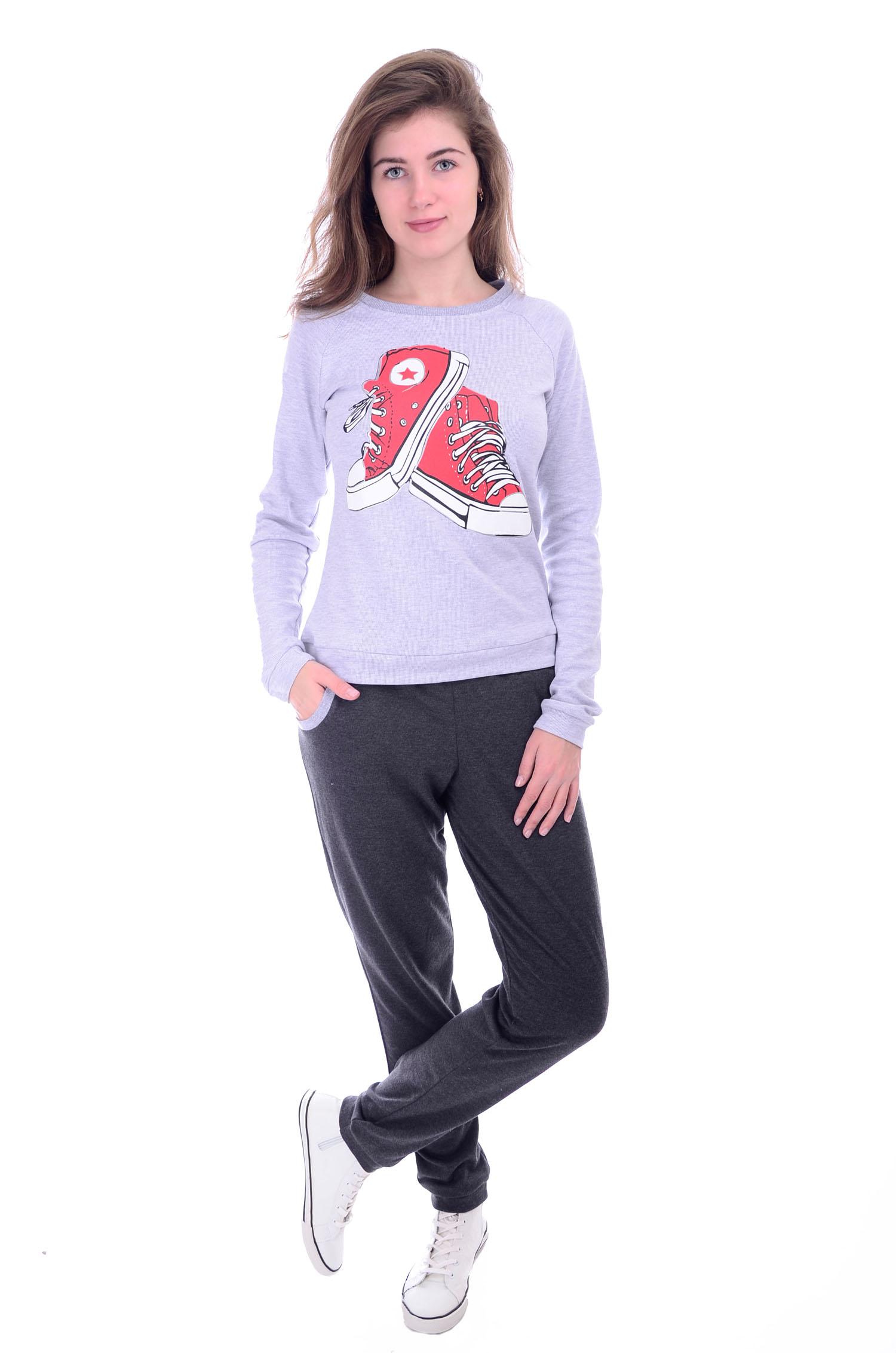 Костюм женский Кеды свитшот и брюкиКостюмы<br><br><br>Размер: 42