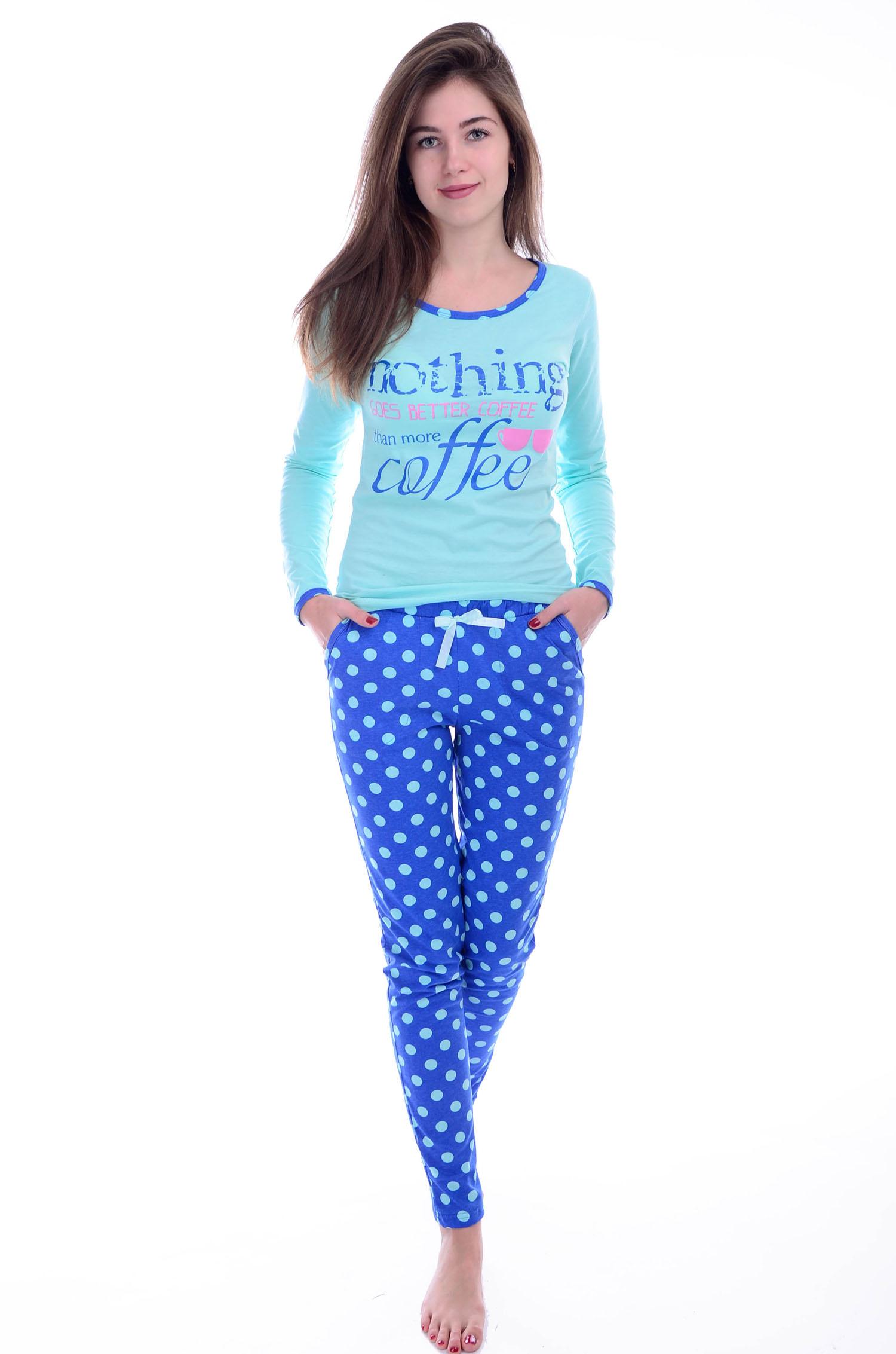 Костюм женский Кофе футболка и брюкиДомашняя одежда<br><br><br>Размер: 56