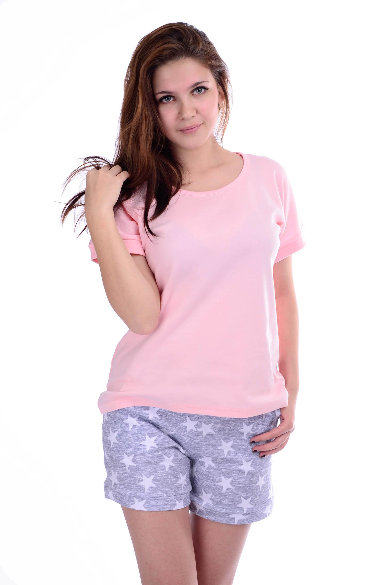 Костюм женский Мираж футболка и шортыДомашняя одежда<br><br><br>Размер: 50