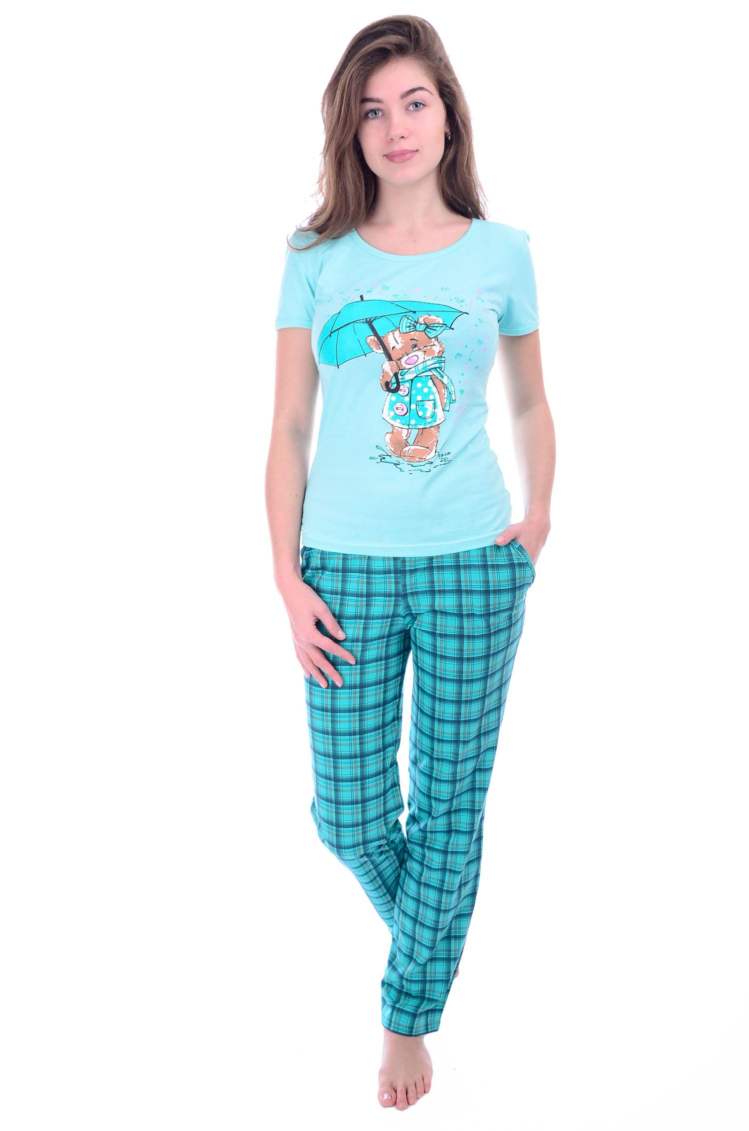 Костюм женский Зонтик футболка и брюкиКостюмы<br><br><br>Размер: 52