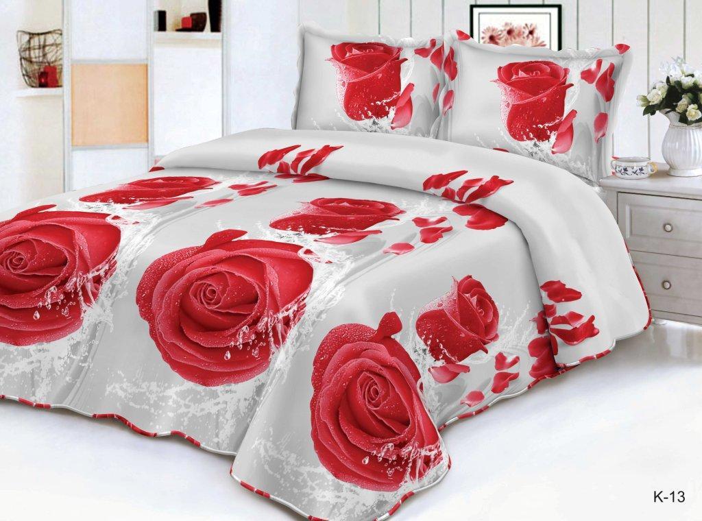 Комплект постельного белья  из полисатина Роза КаираПолисатин<br><br><br>Размер: 1.5сп. (2 нав.70х70)