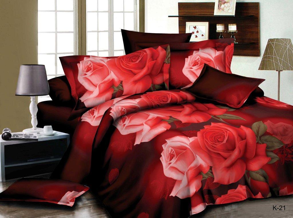 Комплект постельного белья из полисатина Любимой женщинеПолисатин<br><br><br>Размер: Евростандарт (2 нав. 70х70)