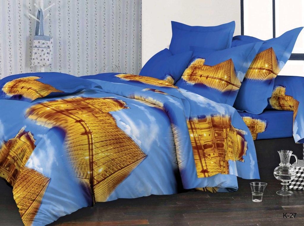 Комплект постельного белья из полисатина Парижская тайнаПолисатин<br><br><br>Размер: 2сп. (2 нав. 70х70)