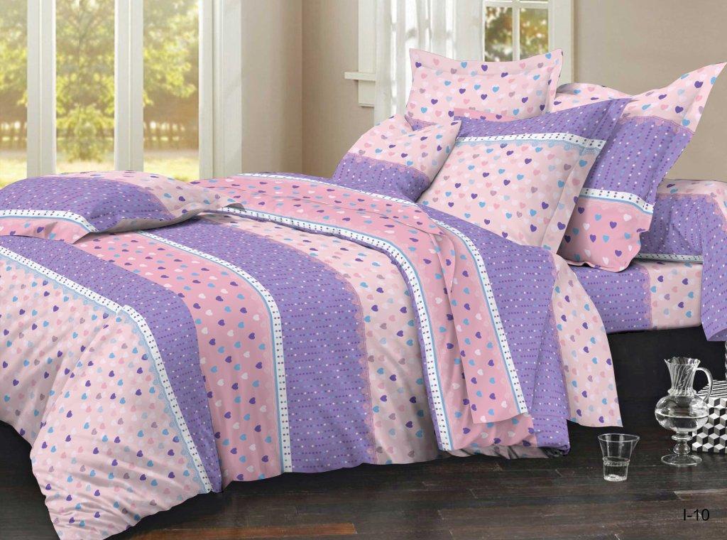 Комплект постельного белья из полисатина Ванильное небоПолисатин<br><br><br>Размер: Семейный (2 нав. 70х70)