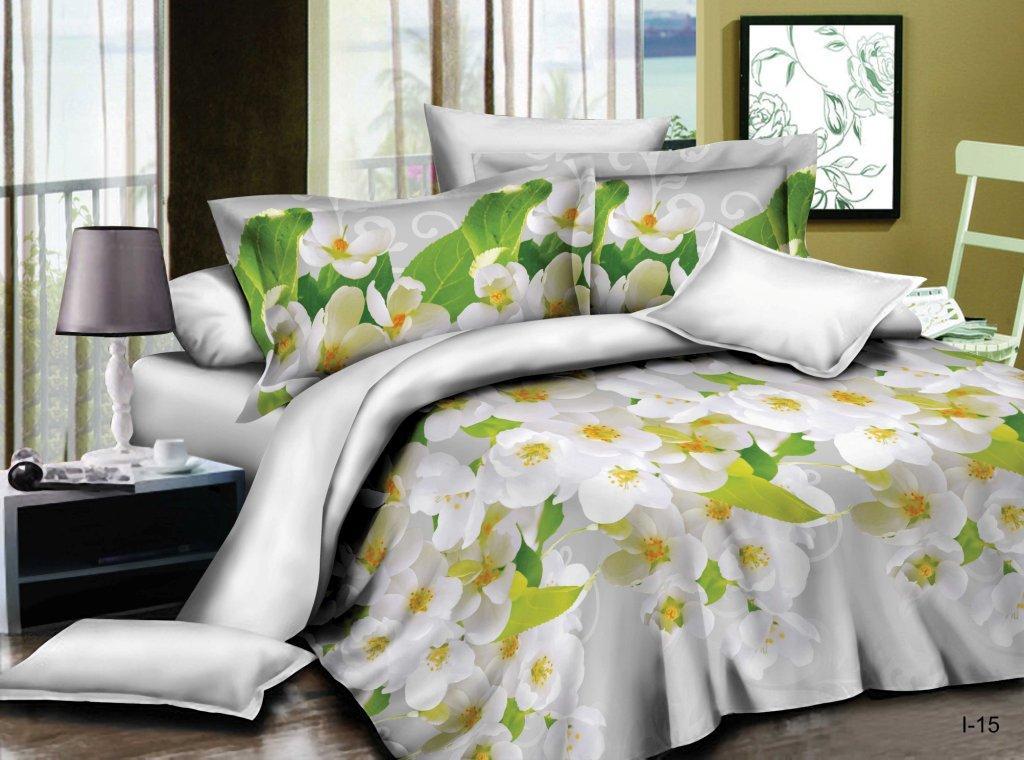 Комплект постельного белья из полисатина Душистый садПолисатин<br><br><br>Размер: Семейный (2 нав. 70х70)