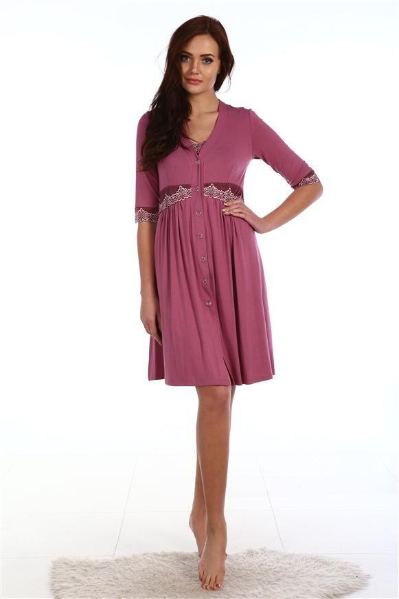 Пеньюар женский МэрилинДомашняя одежда<br><br><br>Размер: Сливовый