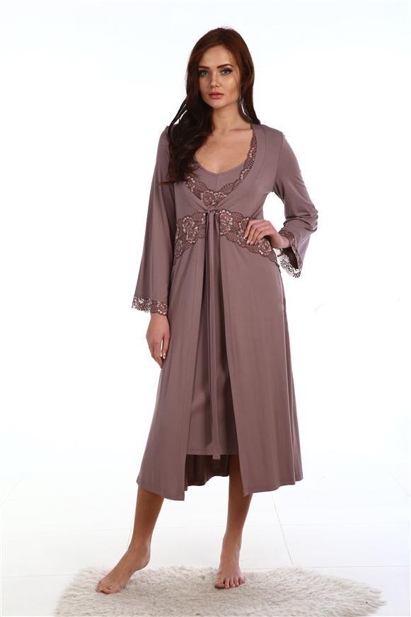 Пеньюар женский Жар ПтицаДомашняя одежда<br><br><br>Размер: Коричневый