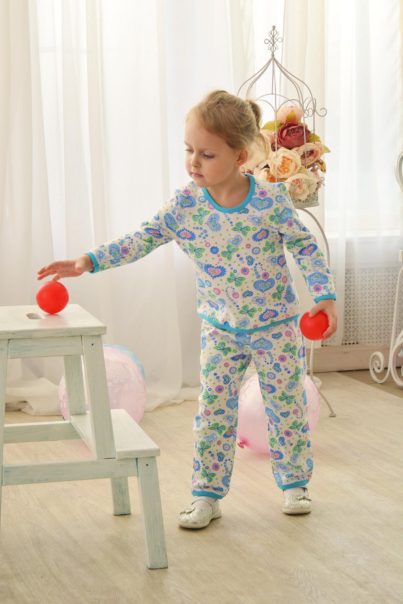 Пижама детская Шалунья для девочкиХалаты и пижамы<br><br><br>Размер: 56-98
