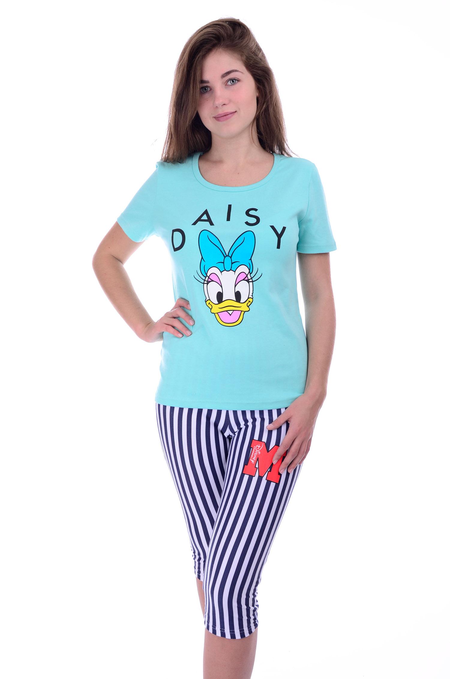 Пижама женская Даша  футболка и бриджиДомашняя одежда<br><br><br>Размер: 48