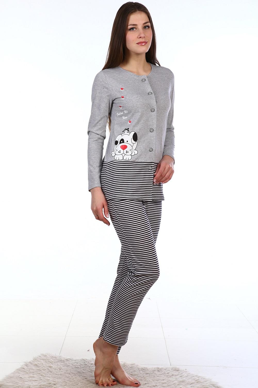 Пижама женская Дружок кофта и брюкиКоллекция ОСЕНЬ-ЗИМА<br><br><br>Размер: 44