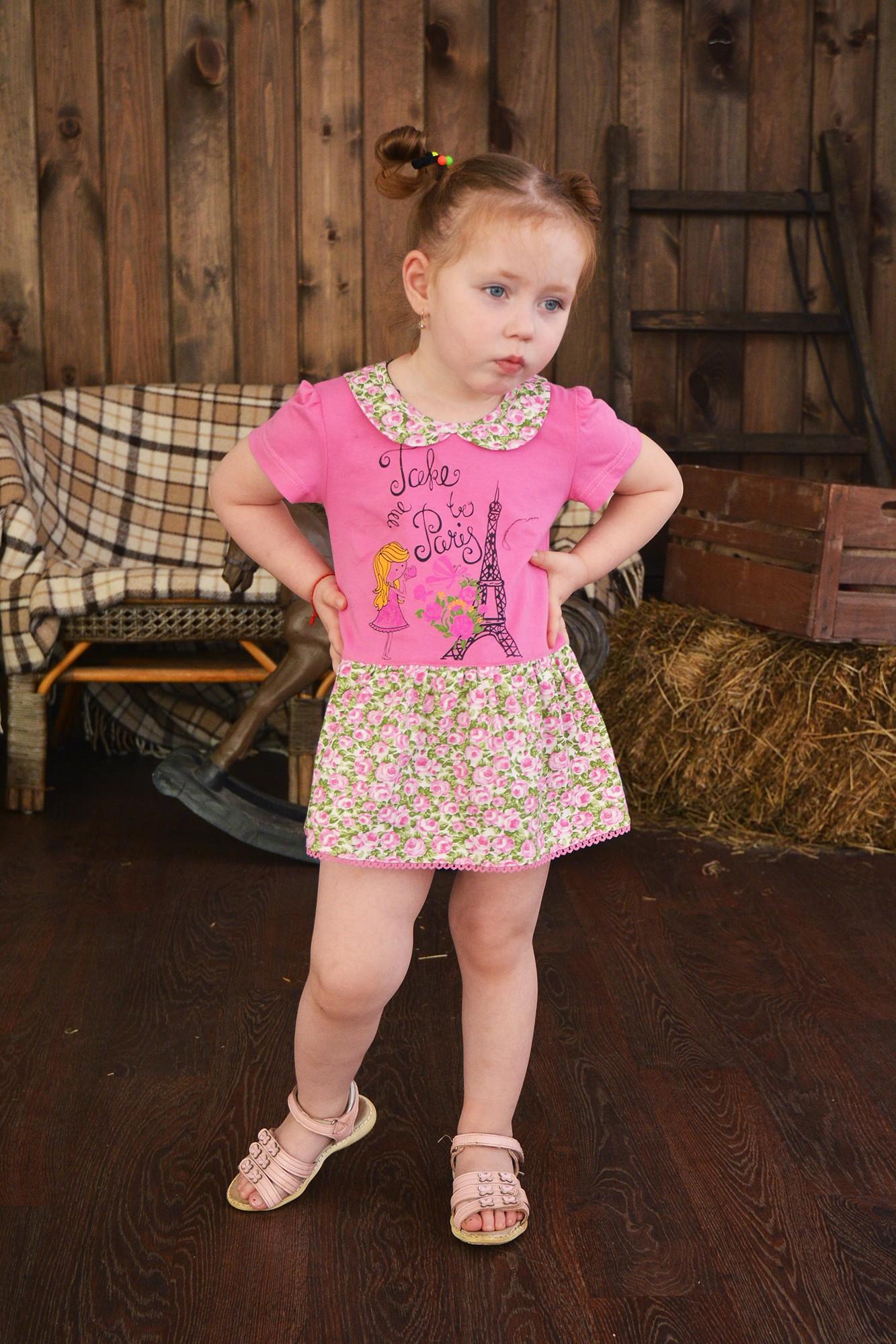 Платье детское Ля-франс для девочкиПлатья и сарафаны<br><br><br>Размер: 72-128