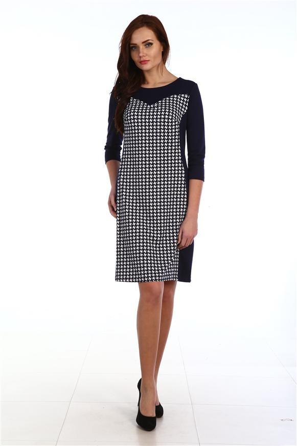 Платье женское Нора с круглым вырезомКоллекция ОСЕНЬ-ЗИМА<br><br><br>Размер: 56