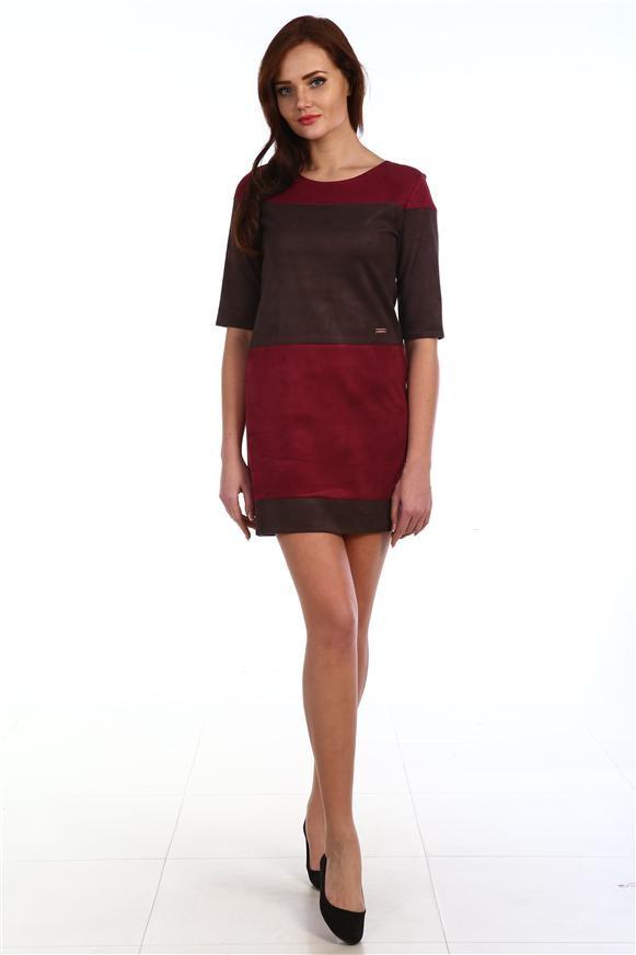 Платье женское Осень с круглым вырезомКоллекция ОСЕНЬ-ЗИМА<br><br><br>Размер: 48