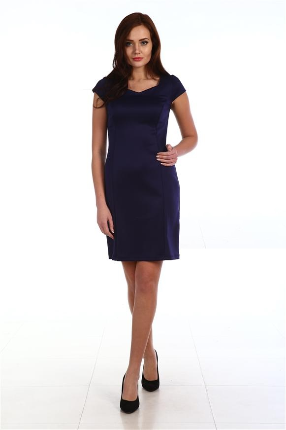 Платье женское Прима с коротким рукавомПлатья и сарафаны<br><br><br>Размер: 48