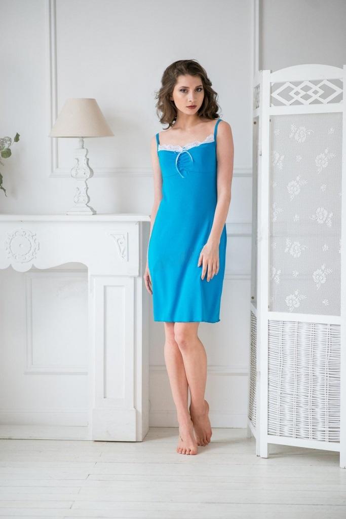 Сорочка женская Мила на тонких бретеляхДомашняя одежда<br><br><br>Размер: 50