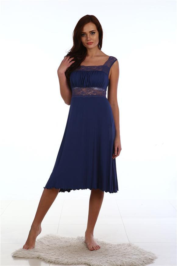 Сорочка женская Рита с кружевной кокеткойДомашняя одежда<br><br><br>Размер: 54