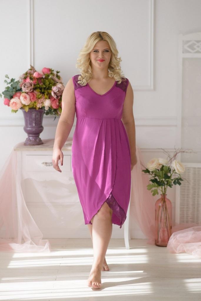Сорочка женская Тамара с V-образным вырезомДомашняя одежда<br><br><br>Размер: 44
