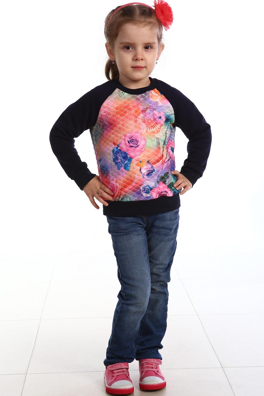 Толстовка детская Капитошка для девочкиКоллекция ОСЕНЬ-ЗИМА<br><br><br>Размер: 38 (рост 146 см)