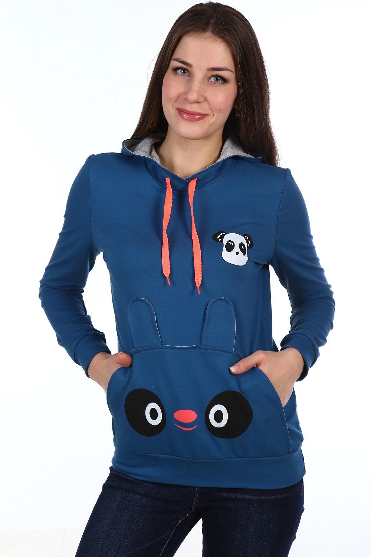 Толстовка женская Pet с капюшономКофты, свитера, толстовки<br><br><br>Размер: 44
