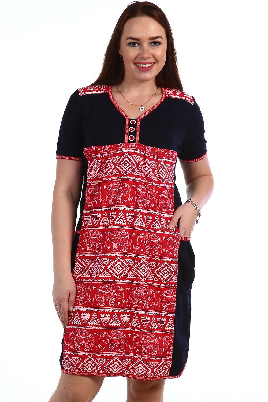 Туника женская Непал с V-образным вырезомТуники, рубашки и блузы<br><br><br>Размер: 52