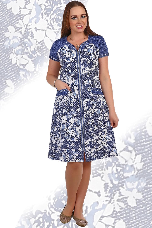 Халат женский Морозко на молнииДомашняя одежда<br><br><br>Размер: 48