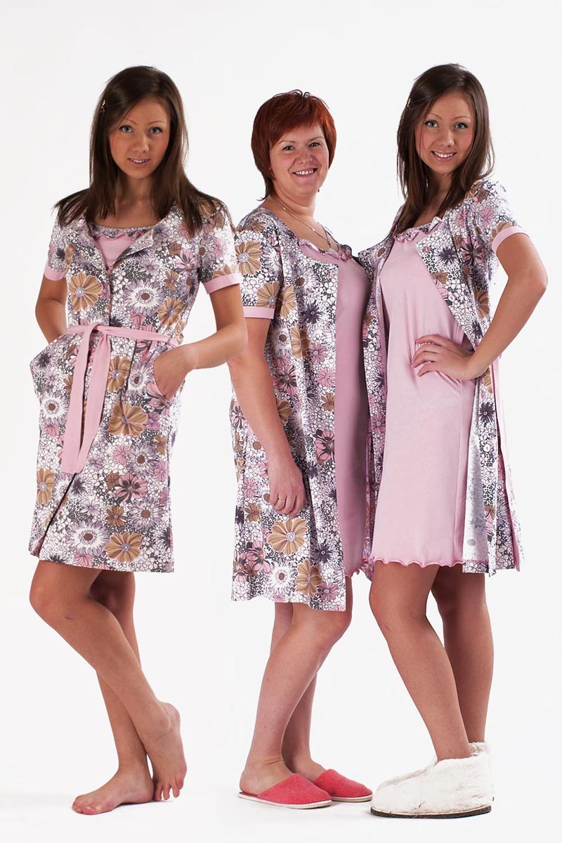 Комплект женский Цветочный вечерСорочки<br><br><br>Размер: 42