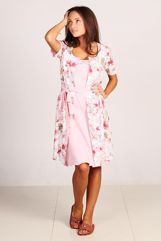 Комплект женский Цветочный вечер-2Сорочки<br><br><br>Размер: 50