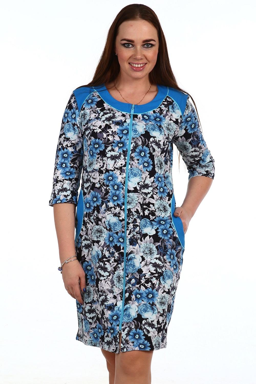 Халат женский Амалия на молнииДомашняя одежда<br><br><br>Размер: Коричневый