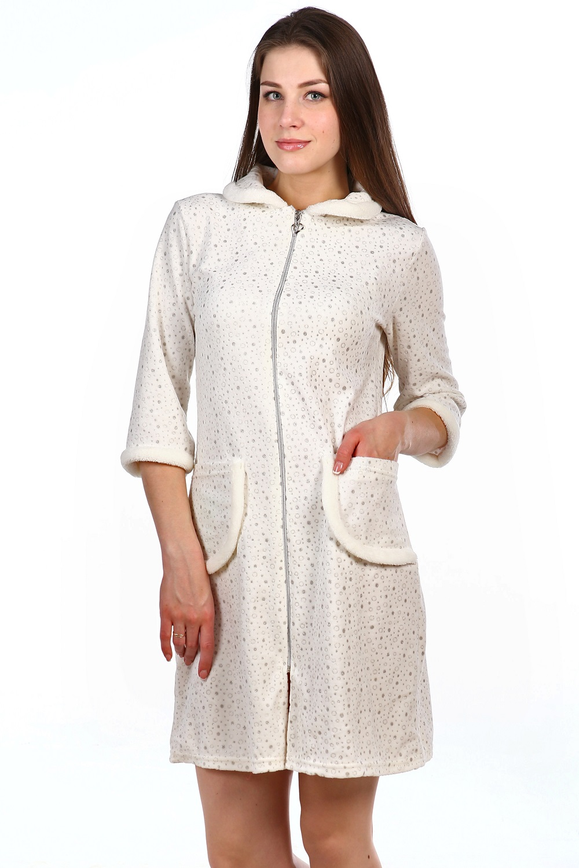 Халат женский Эвелина на молнииДомашняя одежда<br><br><br>Размер: 42
