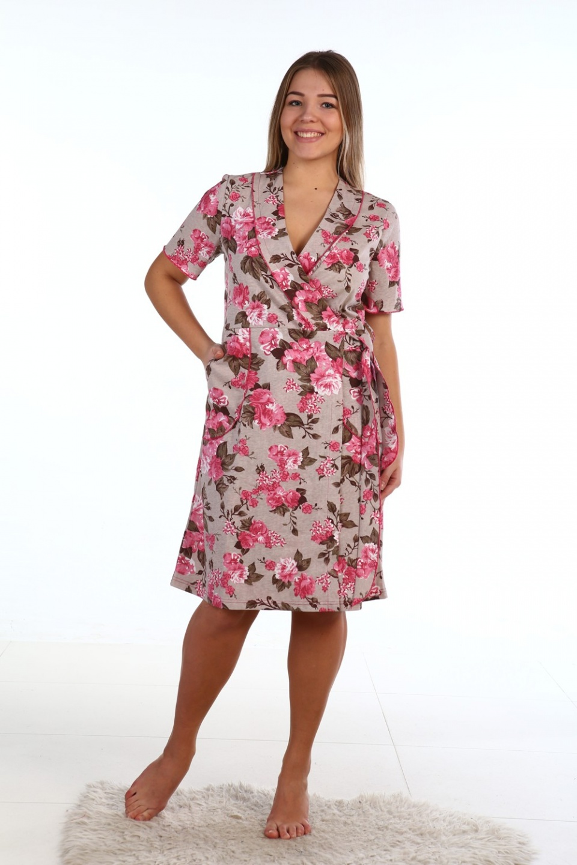 Халат женский Матильда с V-образным вырезомДомашняя одежда<br><br><br>Размер: 54