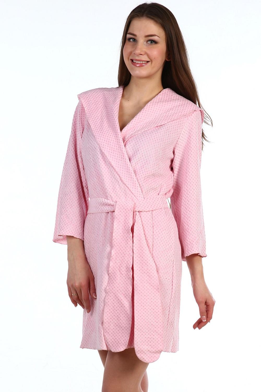 Халат женский Наргиз с капюшономДомашняя одежда<br><br><br>Размер: 46