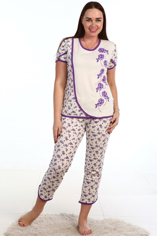 Костюм женский домашний Эльвира блуза и брюкиДомашняя одежда<br><br><br>Размер: 62
