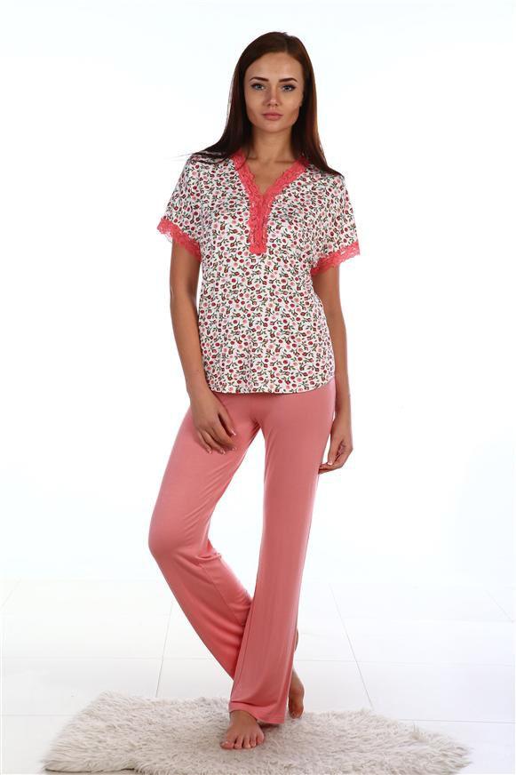Костюм женский Фантазия блуза и брюкиДомашняя одежда<br><br><br>Размер: 48