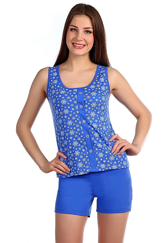 Костюм женский домашний Декабрь майка и шортыДомашняя одежда<br><br><br>Размер: Голубой